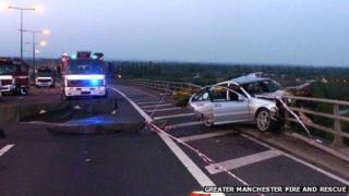 Crash scene M60