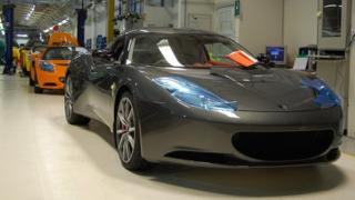 Lotus models in the factory