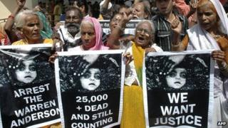 Bhopal protest