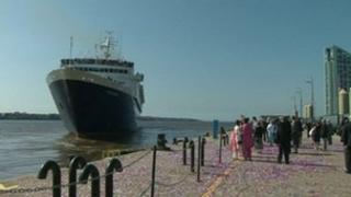 Ocean Countess at the cruise liner terminal