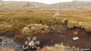 Crash site and war grave