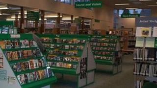 Inside Loughborough library