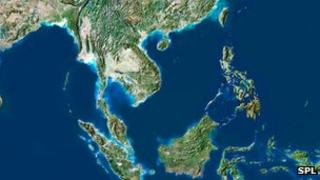 Satellite image of the South China Sea