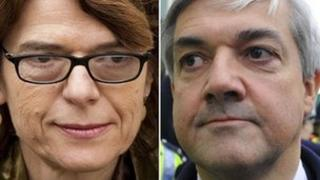 Vicky Pryce and ex-husband Chris Huhne