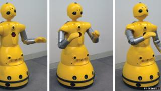 The robots in action