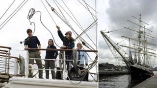 Tenacious arrives at West India Docks