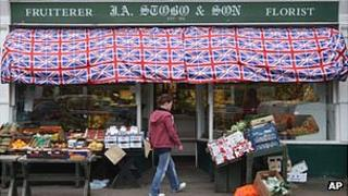 A Corbridge shop decked out in flags to mark the Queen's Diamond Jubilee