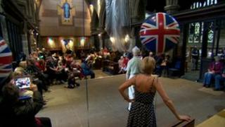 Party in Wakefield Cathedral