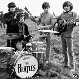 The Beatles: John Lennon, Ringo Star, Paul McCartney and George Harrison