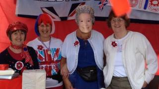 """Ladies from Cross Heath Methodist Church with """"The Queen"""" in Newcastle"""