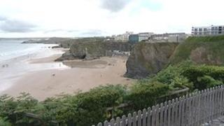Great Western beach in Newquay