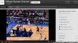 Olympics channel on YouTube