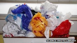 A stock photo of plastic bags