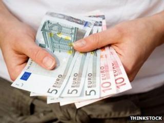 Man with euros