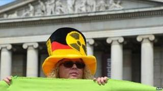 Nuclear protester in Germany