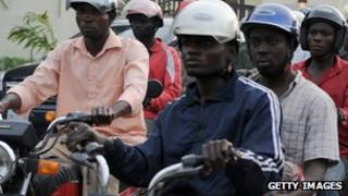 Motorcycle taxi drivers