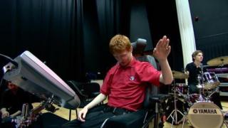 Anthony Swift playing the soundbeam