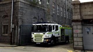 Fire crews at Broadford Works