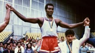 Teofilo Stevenson at the 1980 Moscow Olympics