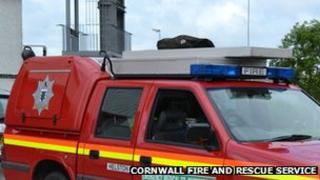 Cornwall fire service vehicle