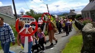 Protest Llanddona