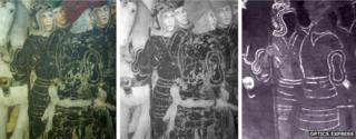 Visible, near- and mid-infrared images of Zavattari fresco