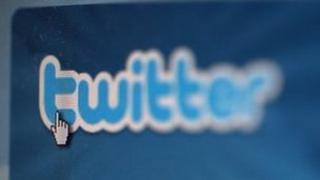 Twitter on screen