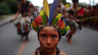 Brazilian natives at the UN Conference on Sustainable Development