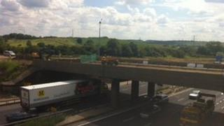 Bridge at junction 12 of the M1