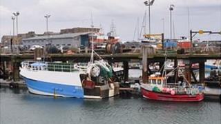 Guernsey fishing boats in St Peter Port Harbour