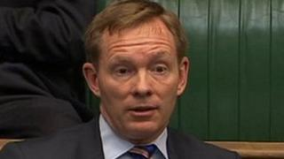 Chris Bryant looks surprised at the PM's response to his question
