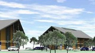 Digital impression of how the new development will look at Parc Cybi, Holyhead