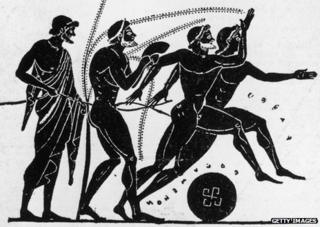 Fifth Century Olympiad on Greek pottery