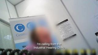 Picture of secret filming in call centre