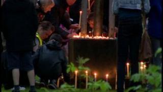 Candlelit vigil for Jamie Heaton