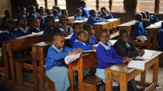 Kenyan children at school (September 2011)