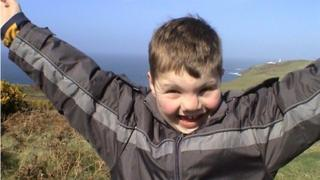 Lucas Hayward when he was younger