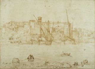 Pieter Bruegel the Elder, View of the Ripa Grande, circa 1552 - 1553