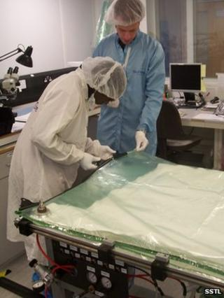 NASRDA engineers working on NigeriaSAT-2