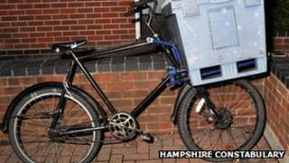 Police picture of delivery bike