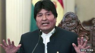 Bolivian President Evo Morales on 2 July 20102