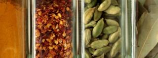 Dried herbs and spices (Image: BBC)