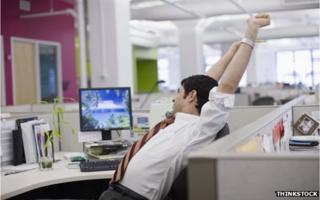Office worker sitting down