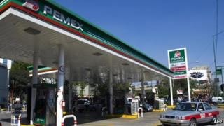 A Pemex petrol station in Mexico - file photo 2008