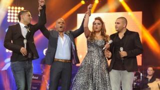 Nissren Kader wining 'Eyal Golan is looking for you'