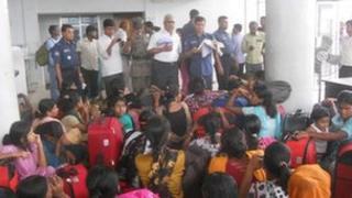 Trafficked women in Dhaka