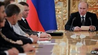 Russia's President Vladimir Putin in the Kremlin, 28 Jun 12