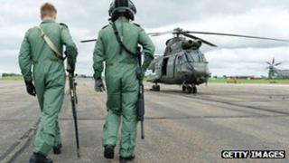 Lance Corporal Alex Walton (L) and Corporal Dan Best of the RAF Regiment