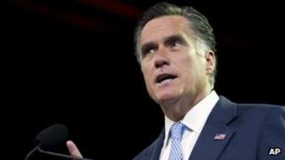 Republican presidential candidate, Mitt Romney speaks in Houston, Texas 11 July 11 2012