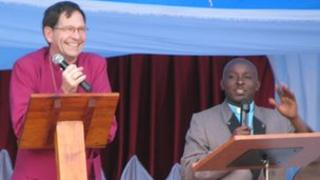 The Right Reverend Nigel Stock and Reverend Absalom Vyankende